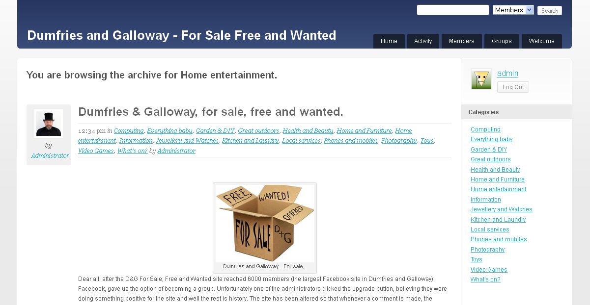 Dumfries and Galloway - For Sale Free and Wanted