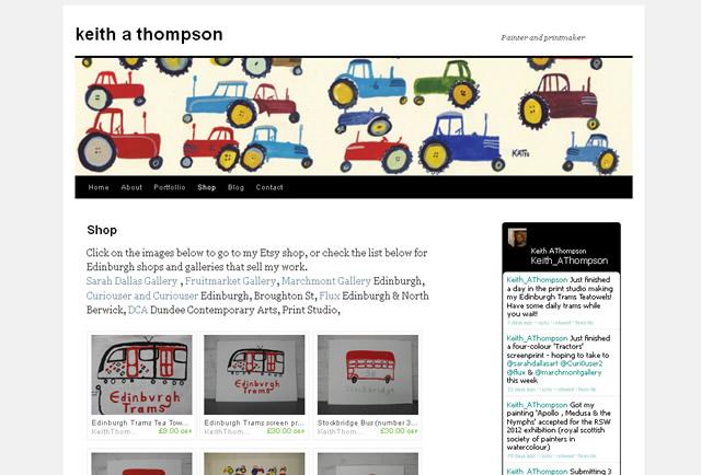 edinburgh tram tea-towels by keith thompson